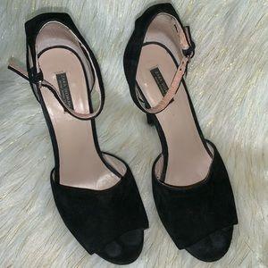 Zara peep toe heels